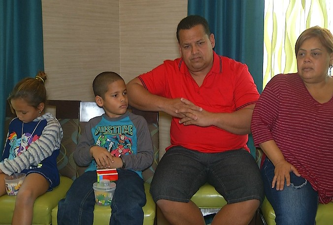 Puerto Rico Hurricane Maria evacuees staying at the Holiday Inn Express Orlando East